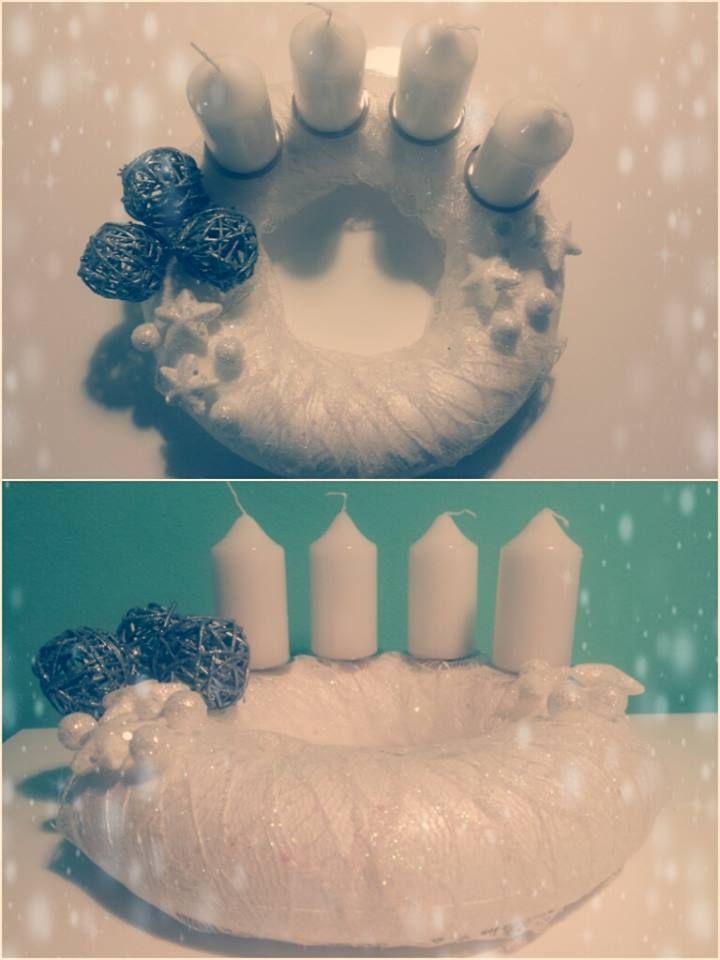 "Adventní věnec ""Sněženka"" (Advent wreath ""Snowdrop"")"