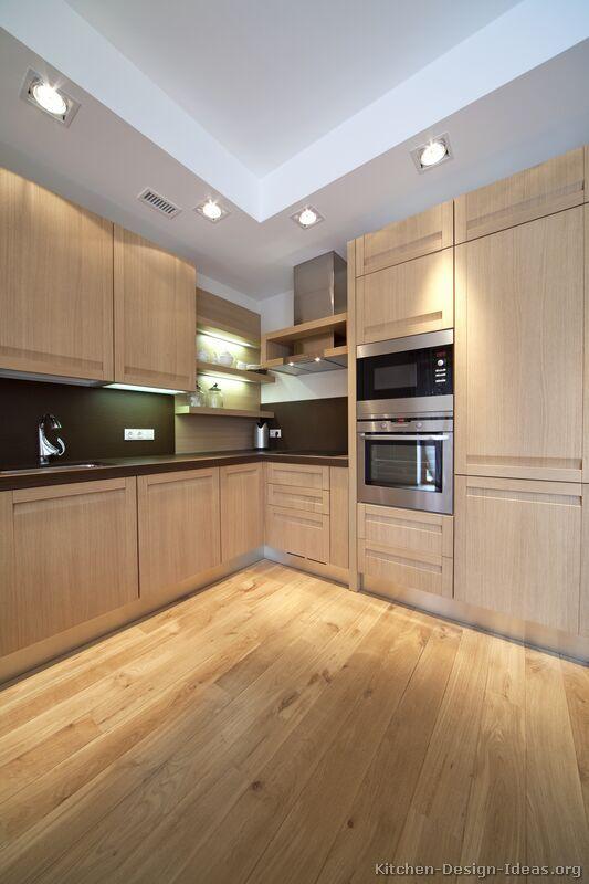 #Kitchen Idea of the Day: Modern Light Wood Kitchens.