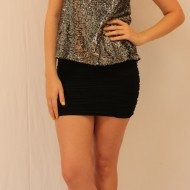 Beautifully fitting ridge patterned pencil skirt only $12
