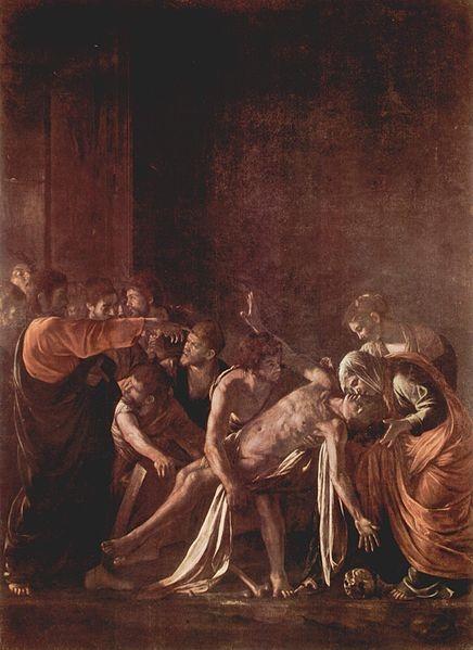 Auferweckung des Lazarus, 1609