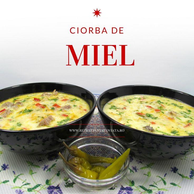 Ciorba de miel dreasa cu smantana si galbenus de ou, o ciorba foarte gustoasa, pregatita special pentru masa de Paste.