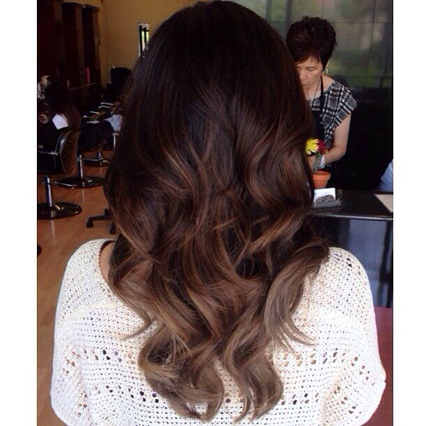 If ever I did ombre, it would be this - Dark brown balayage ombre