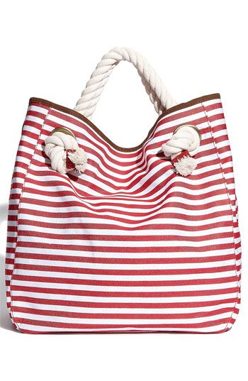 Nautical Beach Bag, so cute!
