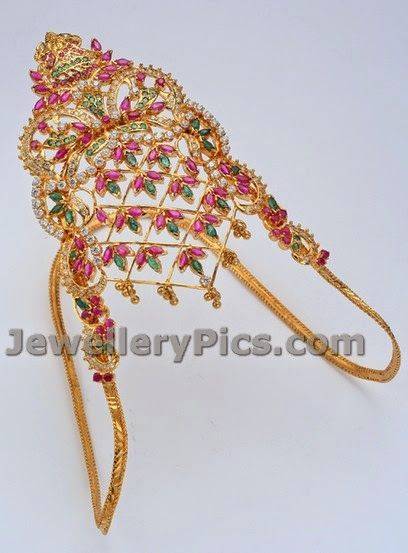 Grand Gold Ara vanki designs with weight - Latest Jewellery Designs