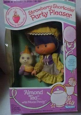 SEALED-1983-Kenner-Strawberry-Shortcake-ALMOND-TEA-Panda-Party-Pleaser-Doll-MIB