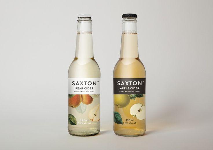 Saxton Apple Cider //: Graphic Design, Bradley Rogerson, Package Design, Packagingdesign, Packaging Design, Saxton Cider, Bottle, Packagedesign, Cider Packaging