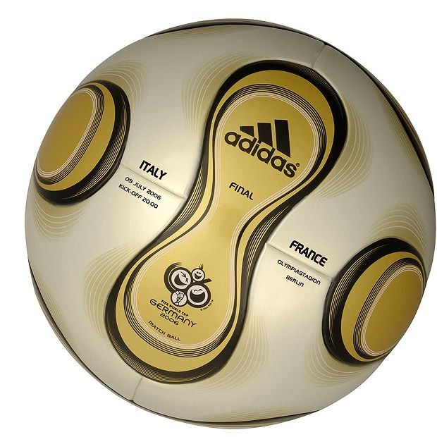 Adidas Teamgeist, the official ball of the Germany FIFA World Cup 2006 final match between Italy and France