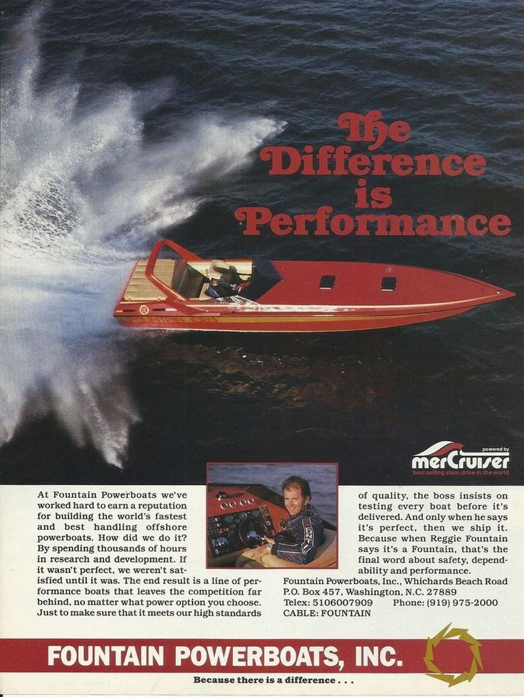 1987 Fountain Powerboats Inc Color Ad- The Fountain ICBM