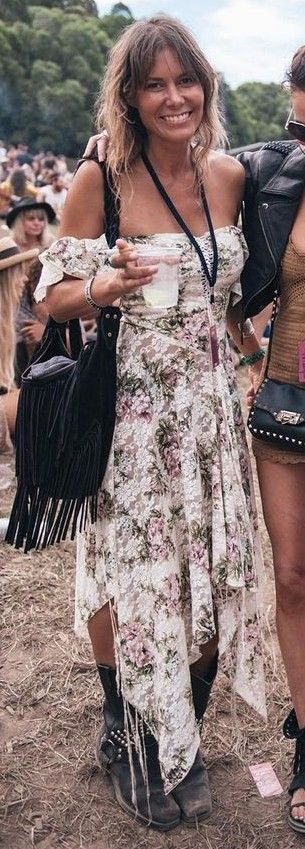 #spellandthegypsycollective #boho #outfits |  Off The Shoulder Boho Maxi Dress