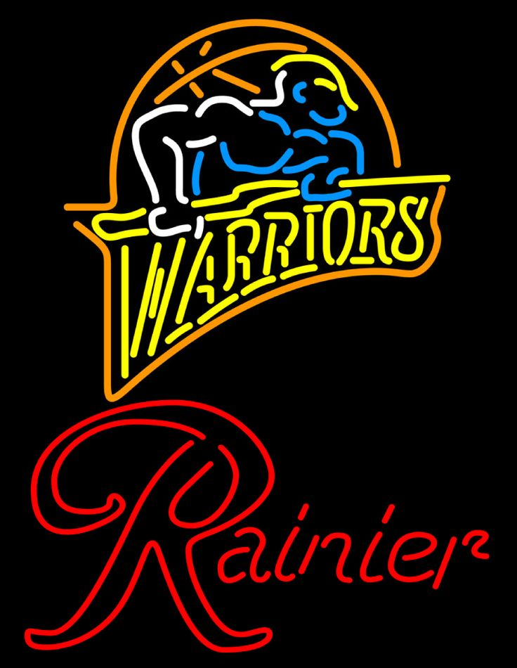 Rainier Golden St Warriors NBA Neon Beer Sign, Rainier with NBA | Beer with Sports Signs. Makes a great gift. High impact, eye catching, real glass tube neon sign. In stock. Ships in 5 days or less. Brand New Indoor Neon Sign. Neon Tube thickness is 9MM. All Neon Signs have 1 year warranty and 0% breakage guarantee.