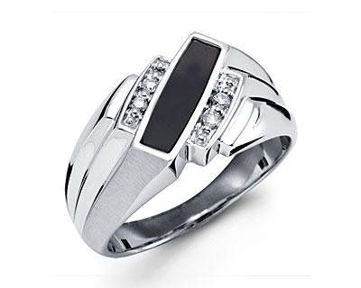 New Solid 10k White Gold Black Onyx Diamond Mens Ring VistaBella. Save 86 Off!. $392.99