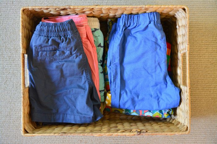 Minamalist children's wardrobe at How we Montessori