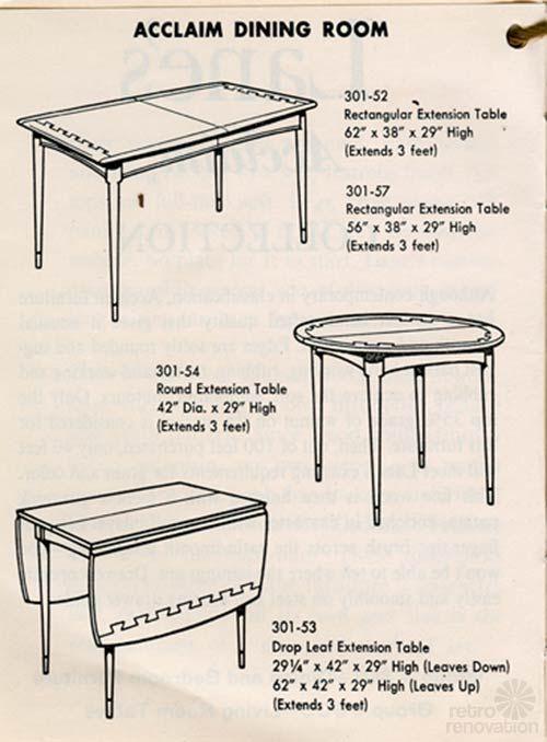 Vintage Lane Acclaim Catalog   Showcasing 48 Pieces In This Classic  Furniture Design Favorite   Retro Renovation Part 65
