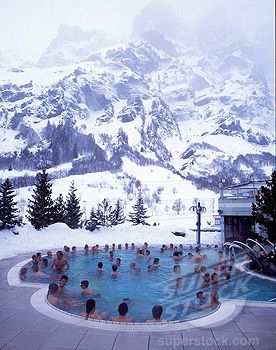 Hot springs, Leukerbad, Valais, Switzerland