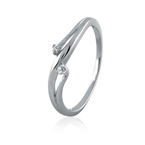 DUO DIAMOND SWIRL RING