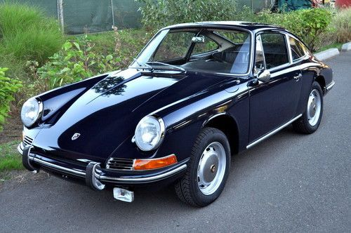 1966 Porsche 912 Short Wheel Base Coupe Aga Blue Fresh Restoration Show Ready, image 3