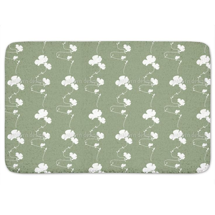 Add excitement to your bathroom decor with this stylish Romantic Floral Design Green Bath Mat that brings a colorful bit of flair to what can be an otherwise boring space in your home. Keep your bathr