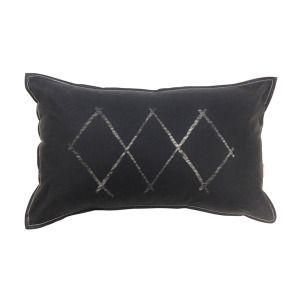 Small Diamonds Black Cushion / The Depot & Co.