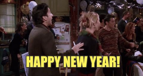 friends new year happy new year ross phoebe buffay new years eve phoebe nye ross geller friends tv #humor #hilarious #funny #lol #rofl #lmao #memes #cute