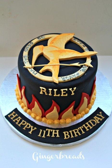 Hunger Games Cake.                                      MORGYN!!!