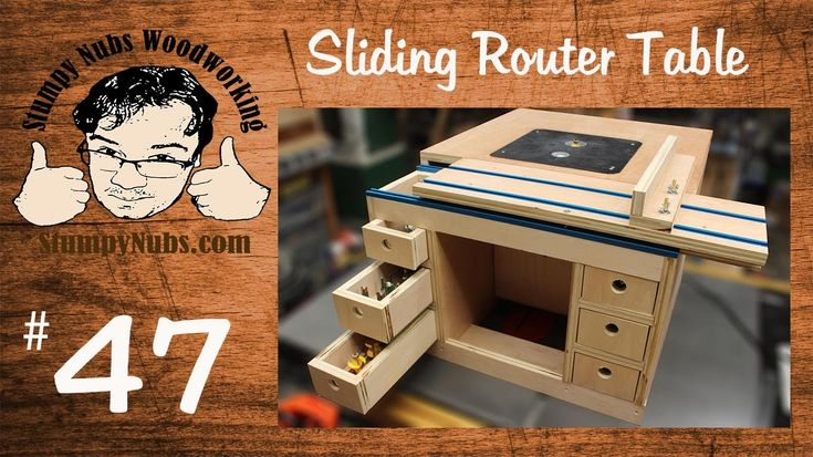 SNW47- Build your own Festool CMS style homemade router table with slidi...