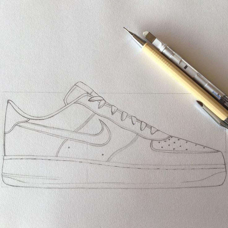 Nike Air Force 1 07 @nike (Pas fini) #crayon #chaussure #nike ...