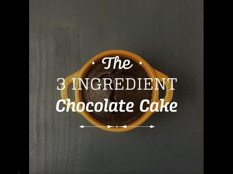 3 ingredient chocolate cake