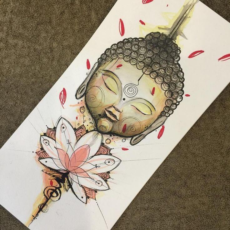 Desenho de buda com flor de lótus. #desenho #drawing #buda #flordelotus #zen #art #arte #colorido #colorful