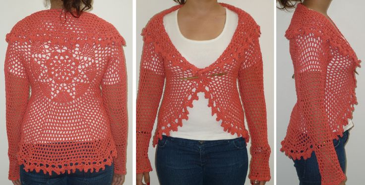 Saco de hilo tejido al crochet