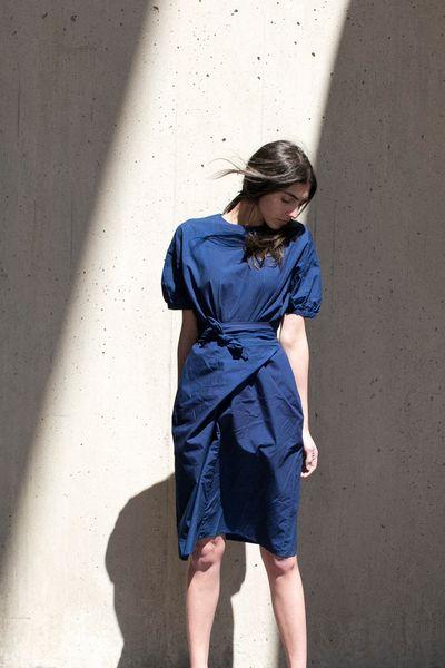 Cosmic Wonder Wrap Dress Indigo