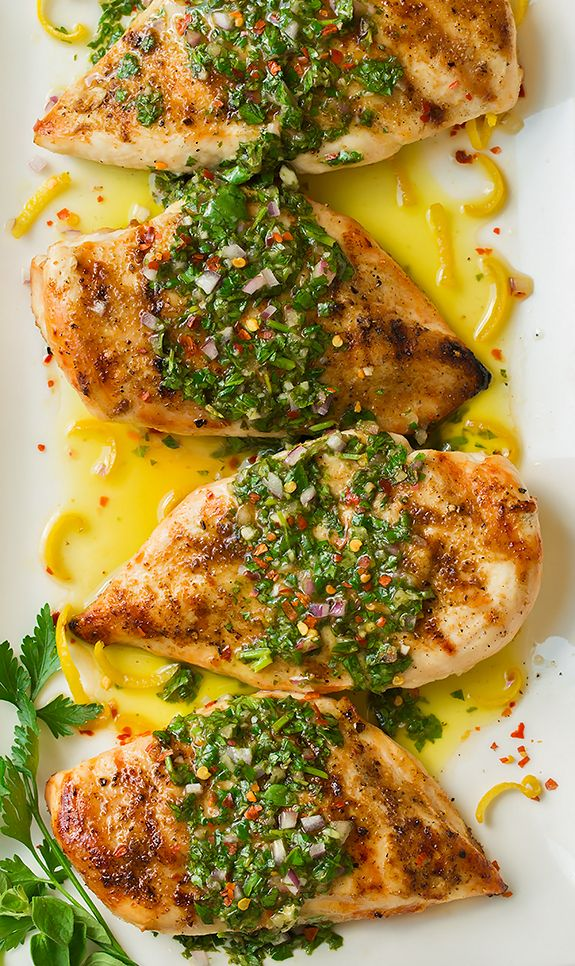Let me start of by saying you HAVE to try this chicken! This Cumin Rubbed Grilled Chicken with Chimichurri Sauce is the definition of good food! It is pack