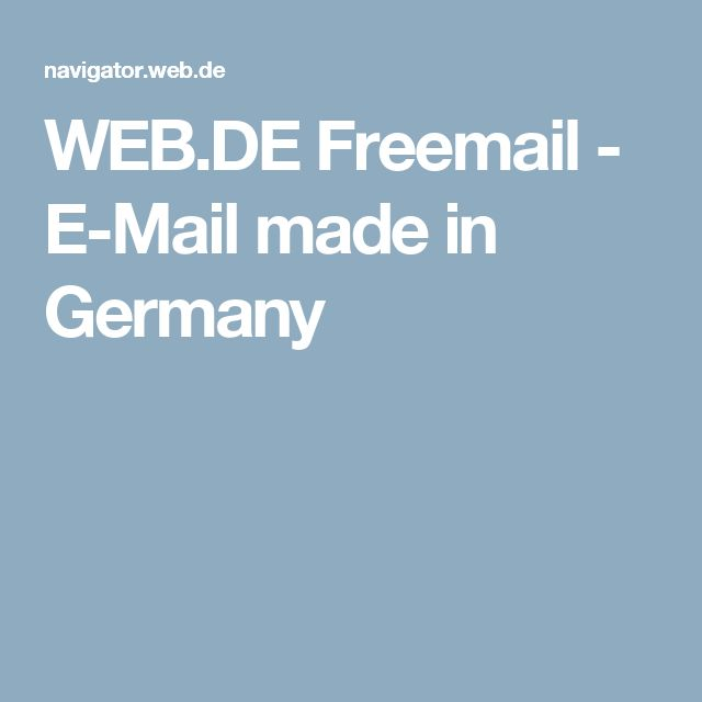WEB.DE Freemail - E-Mail made in Germany