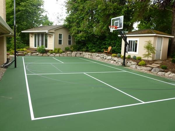 Photo Gallery Of Pickleball Courts In Vancouver Wa Few Different Ways Pickleball Court Basketball Court Backyard Home Basketball Court