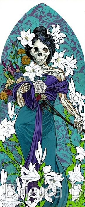 Santa Muerte as an allegory of spring - Briana Bainbridge
