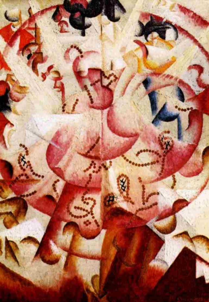 Dancer in Pigalle, 1912. Gino Severini (1883-1966) was an Italian painter and a leading member of the Futurist movement. He was an important link between artists in France and Italy and came into contact with Cubism before his Futurist colleagues. Following a visit to Paris in 1911, the Italian Futurists adopted a sort of Cubism, which gave them a means of analysing energy in paintings and expressing dynamism.