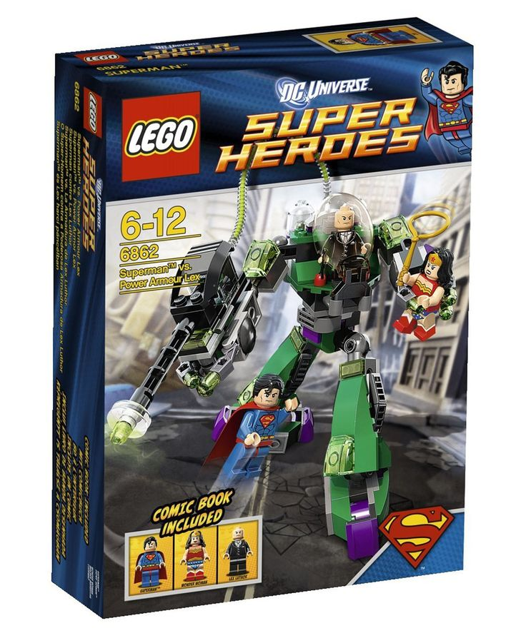 Comparez les prix du LEGO DC Comics Super Heroes 6862 Superman contre Lex Luthor avant de l'acheter ! Infos, description, images, vidéos et notices du LEGO 6862 Superman contre Lex Luthor sur Avenue de la brique