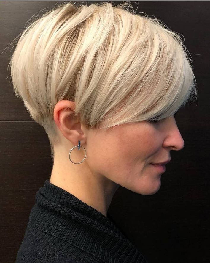 30 Top Stylish White Short Pixie Haircut Ideas For Woman - Page 24 of 30 - Fashionsum Blog