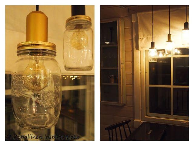Kopallinen inspiraatiota - lasipurkki - lasipurkkilamput - maisonjars - jar - lights - valaisimet - DIY -