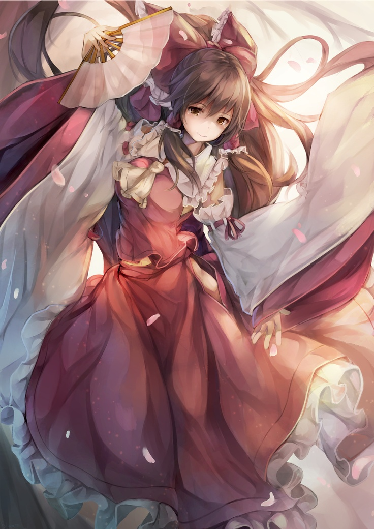 """The Lovely Shrine Maiden of Paradise"" Touhou Project fanart by falmaro #Touhou Project #video games"