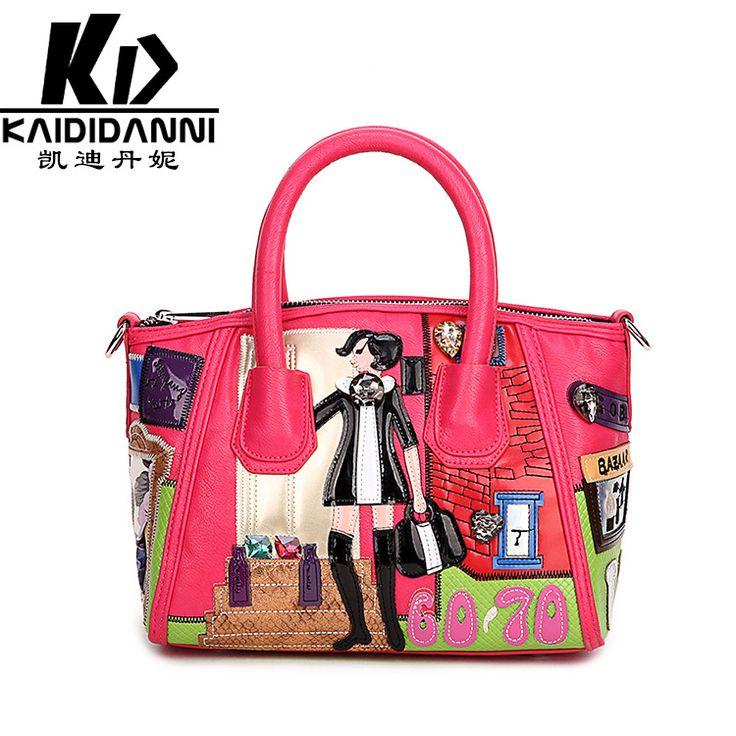 Пэчворк braccialini дизайнер флоренция италия женщины в сумочка женщины в сумка-мессенджер элегантный милый сумки 3D комикс