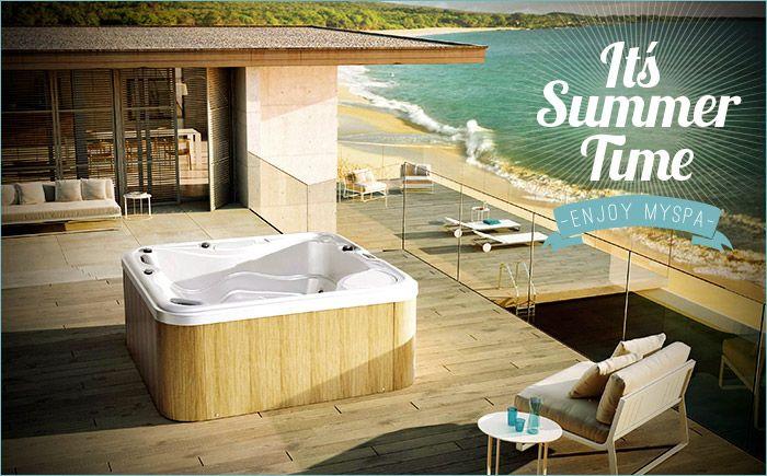 L'estate è arrivata! Passa momenti di puro #relax e divertimento nelle #minipiscine della serie #MySpa di @glass1989 -  www.gasparinionline.it #pool #summer #home #lifestyle #piscina #exterior #spa #idromassaggio #estate #wellness #fun