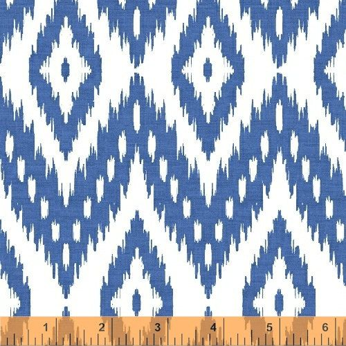 This striking blue and white cotton ikat fabric will bring a bold look to any project from totes, to apparel to pillows  • Contents: 100% cotton •