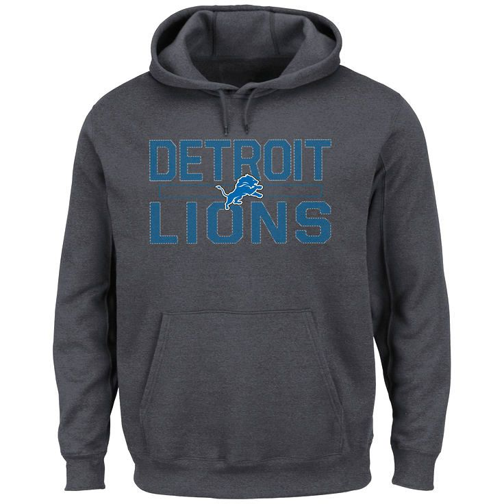 Detroit Lions Majestic Kick Return Pullover Hoodie - Charcoal - $43.99