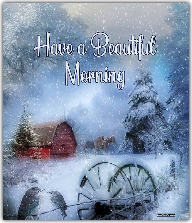 Have A Beautiful Morning On This Winter Day Good Morning Winter Cute Good Morning Beautiful Morning