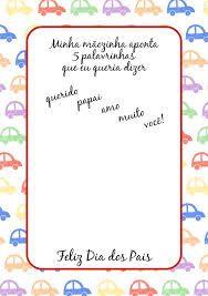 Resultado de imagem para cartões dia dos pais educação infantil