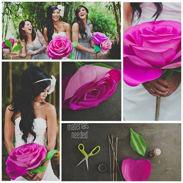 Daily Home Decorations: DIY Giant Crepe Paper Rose (Video)