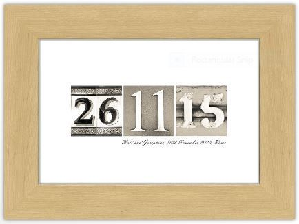 Personalized Wedding Gift Date Art Print Present