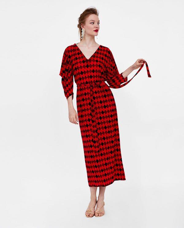 54965e8a4 Catálogo ZARA Primavera Verano 2018 rojo y negro