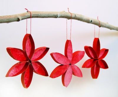 Ornament Advent Day 6:Stained Glass Poinsettias! - Things to Make and Do, Crafts and Activities for Kids - The Crafty Crow
