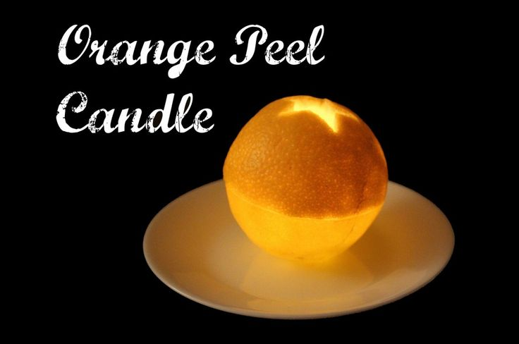 Orange peel candles are a decorative way to use leftover orange peel and make a small oil candle that will burn up to an hour. This easy DIY shows you how.